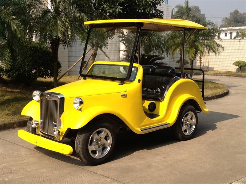 4座黄色电动老爷车