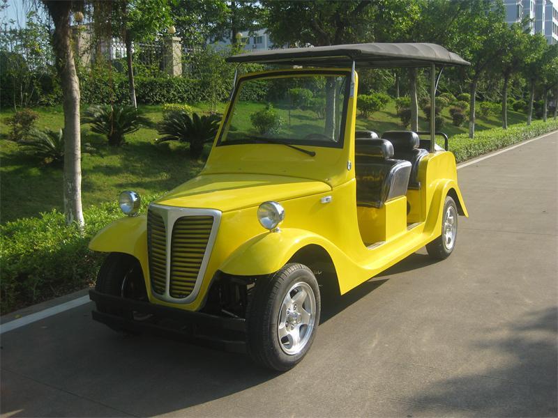 6座B款黄色电动老爷车
