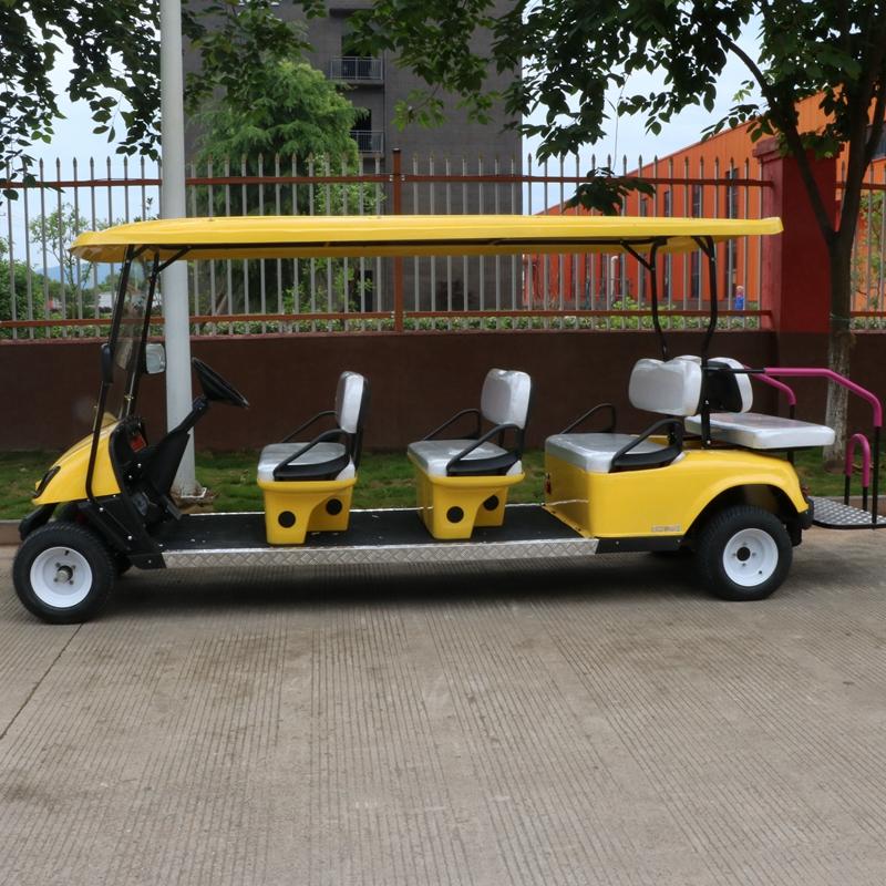 黄色电动观光车