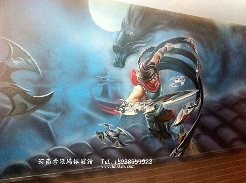 郑州网吧墙体彩绘设计