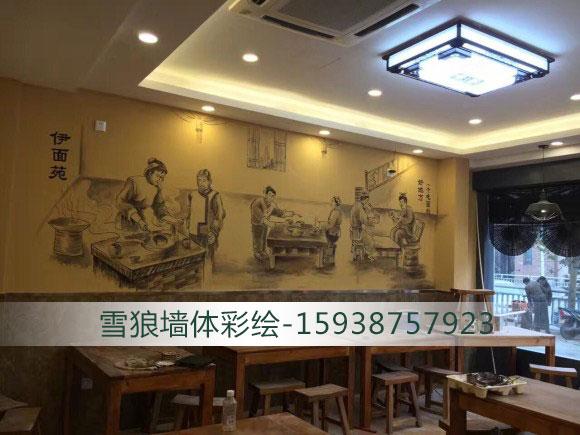酒店墙体彩绘施工