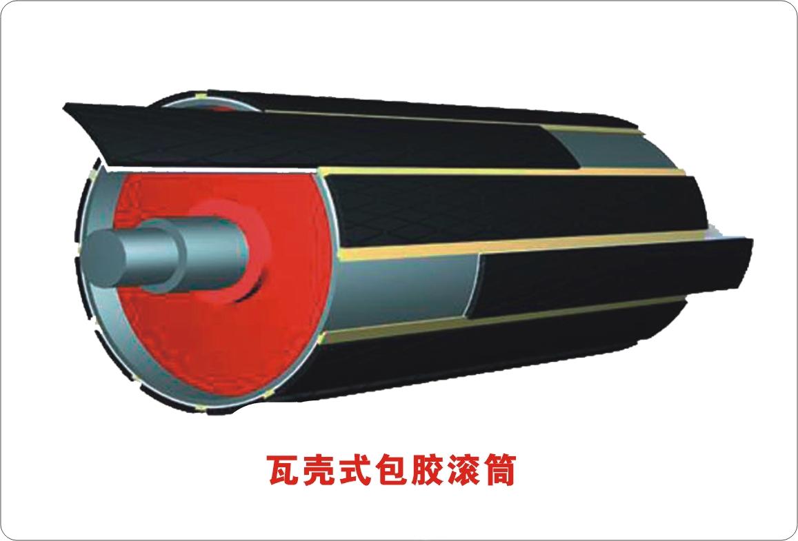 瓦壳包胶滚筒