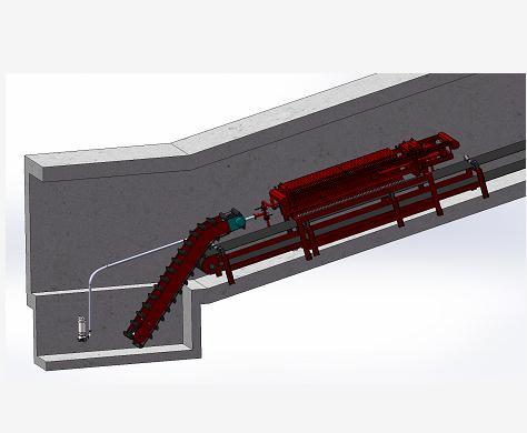 机尾沉淀池清理系统