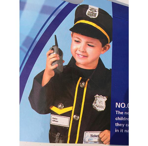 儿童警察表演服装