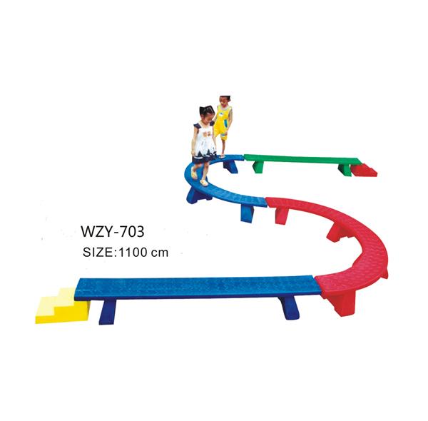 S型儿童塑料独木桥