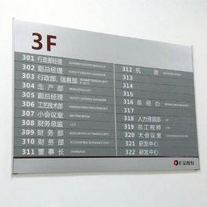 楼层指示牌