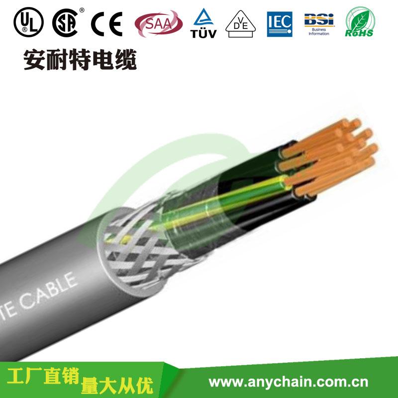 拖链电缆TRVVP耐折弯中速屏蔽柔性拖链线