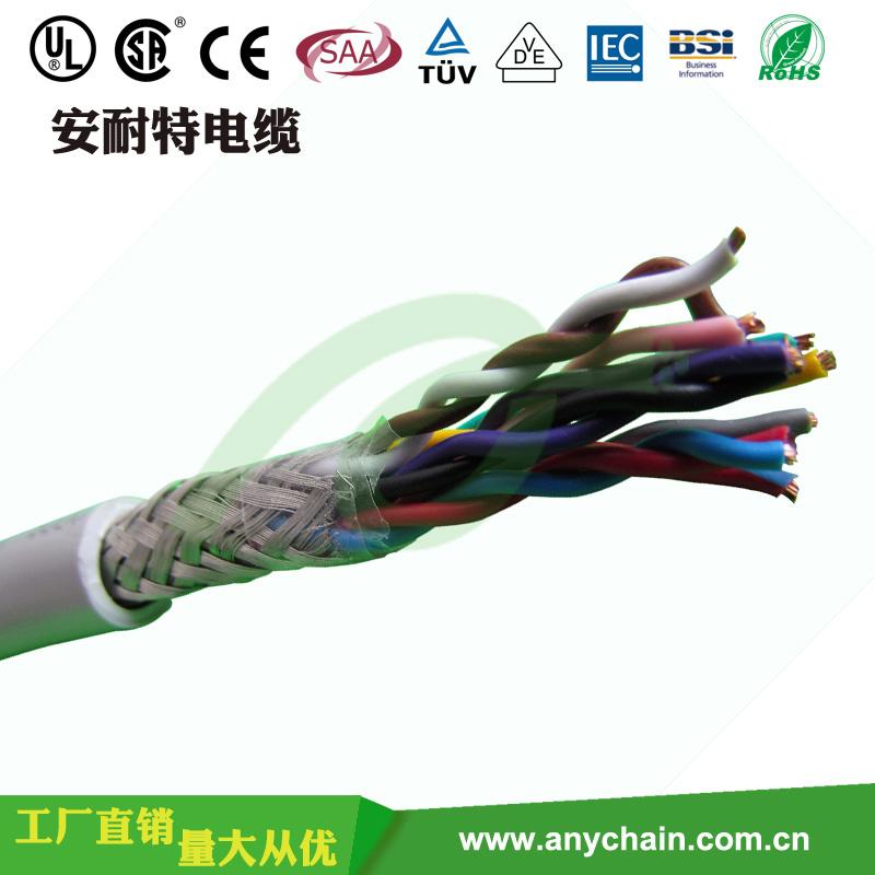 双绞屏蔽拖链电缆TRVVSP中速柔性焊把线
