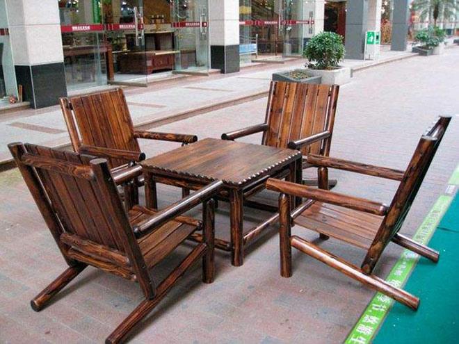 铜仁防腐木座椅