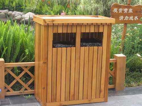 贵州防腐木垃圾桶