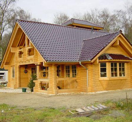 防腐木木屋制作