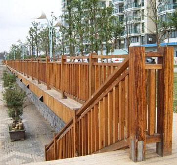 贵阳防腐木护栏
