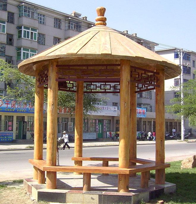 贵州木制凉亭