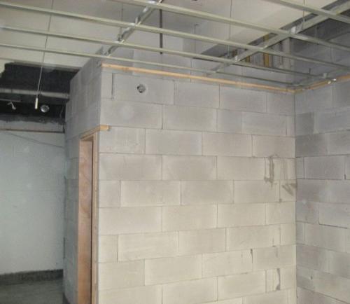 加气块隔墙施工