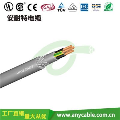 ANYCERT-CETUVVDE-H05VVC4V5-F  H05VVC4V5-F聚氯乙烯绝缘多芯带内护套屏蔽电线