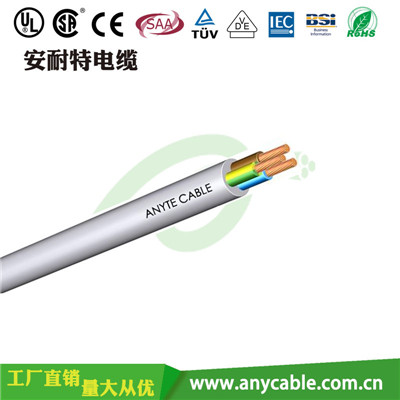 ANYCERT-CETUVVDE-H05VV-F   H05VV-F聚氯乙烯絕緣護套電線