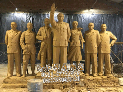 河北展馆雕像