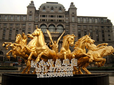 石家庄八匹马雕塑