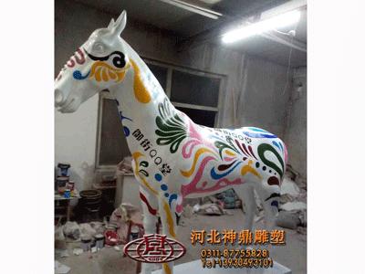 石家庄彩色马雕塑