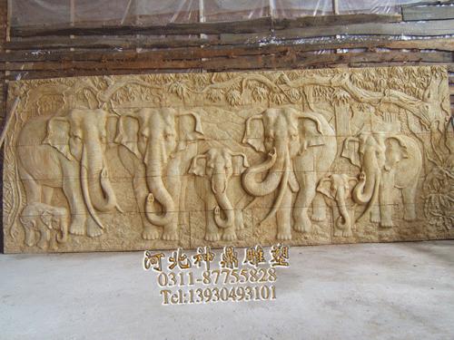 大象浮雕厂家