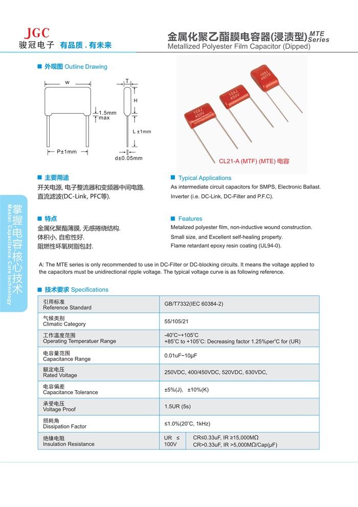 CL21A电容器(图1)