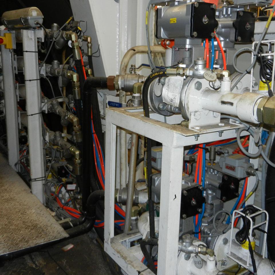 注浆阀组管路安装