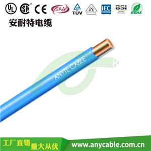 单芯绞合导体聚氯乙烯绝缘电线
