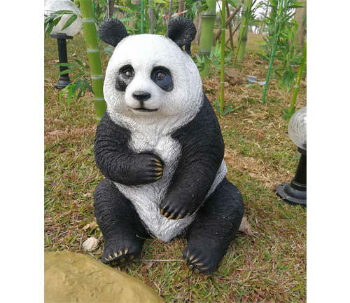 熊猫雕塑工艺