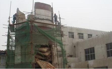 混凝土烟囱人工拆除