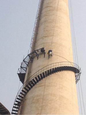 烟囱折梯平台安装