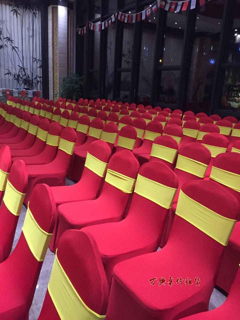 红色酒店桌椅租赁