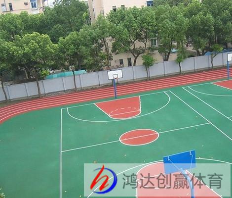 贵阳篮球场施工