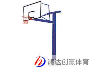 方管地埋篮球架