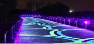 夜光陶瓷颗粒防滑路面厂家