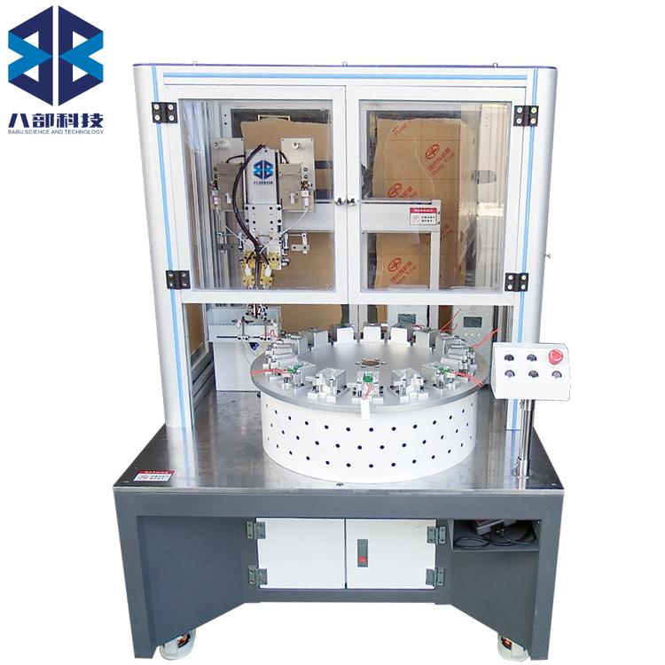 柜式双头焊锡转盘自动焊锡机