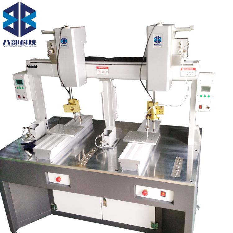 厂家供应双头双平台自动焊锡机HW-TH
