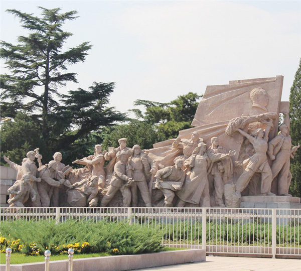 石雕战士雕刻