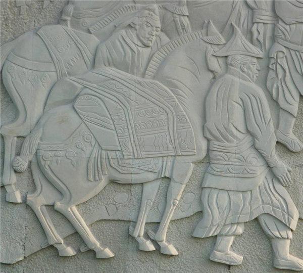 古代农耕石雕