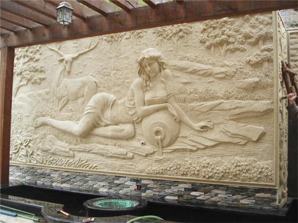 黔�|南砂岩浮雕