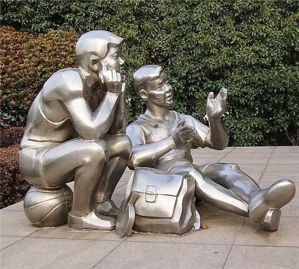 城市不锈钢雕塑