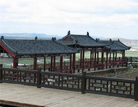 防腐木景观长廊