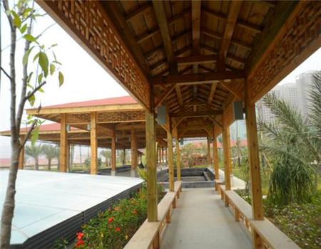 贵州防腐木景观长廊