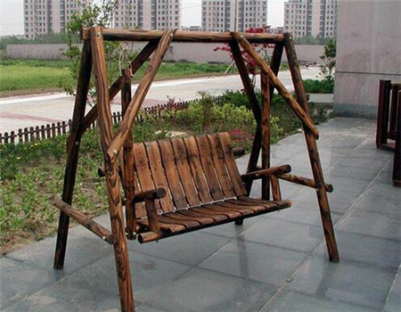 防腐木秋千椅