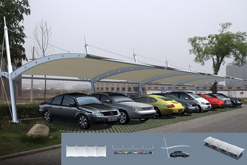 膜结构车棚种类