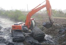 水陆两用挖掘机出租服务