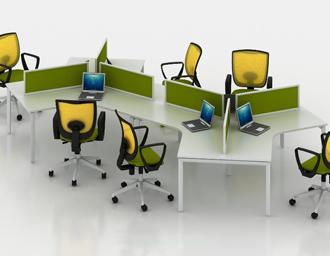 固定组合型办公家具职员桌