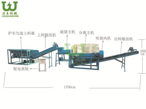菌袋分离机生产线