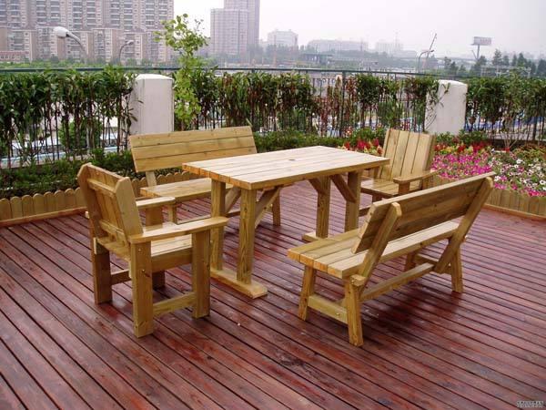 河南户外防腐木椅子