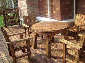 郑州户外防腐木桌子