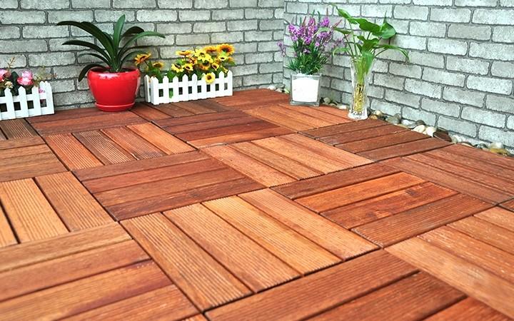 防腐木地板鋪設